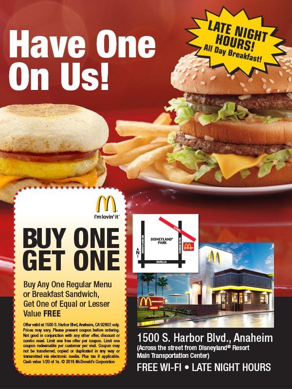 mcdonalds coupon anahiem