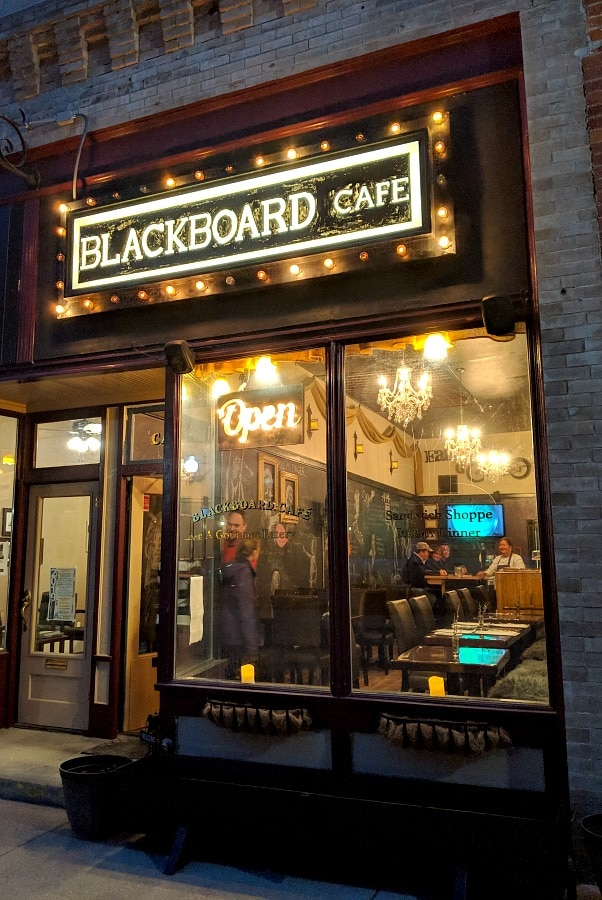 Blackboard Cafe in Wallace Idaho