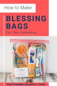 Blessing Bag filled with Supplies