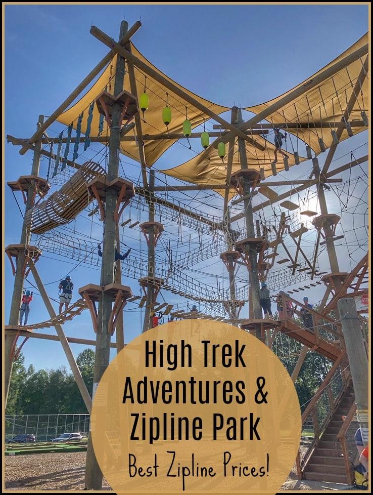 High Trek Adventures and Ziplines – Most Affordable Zipline Option!