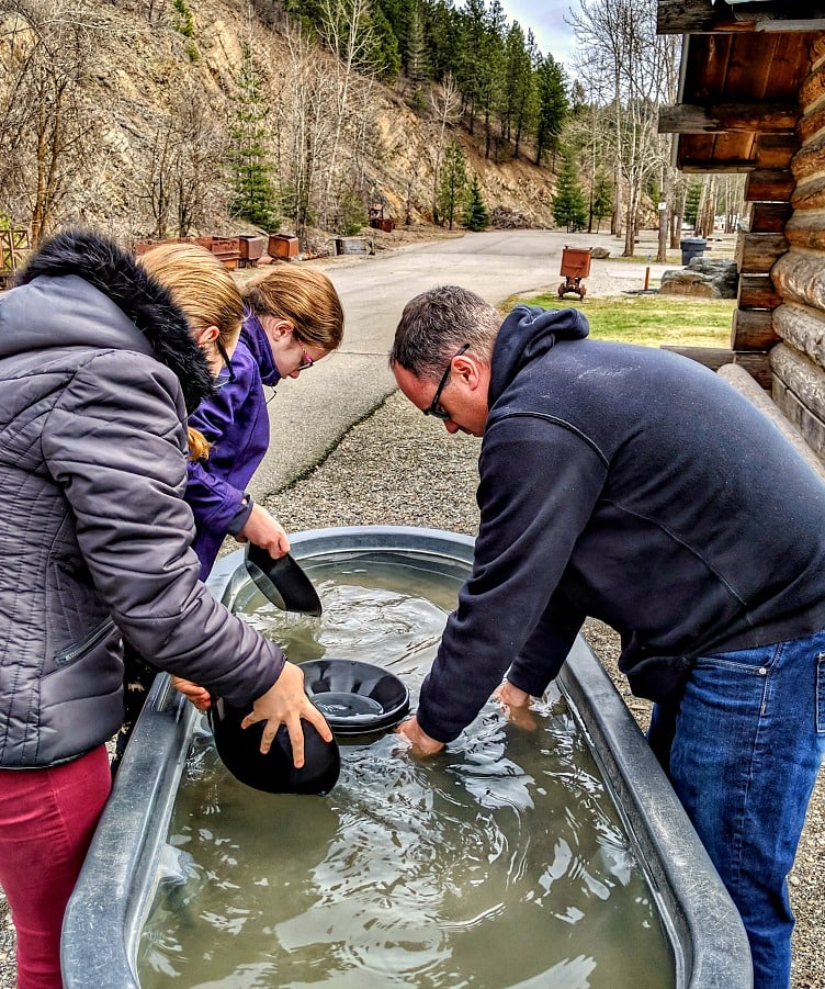 Panning for Gold at Crystal Gold Mine