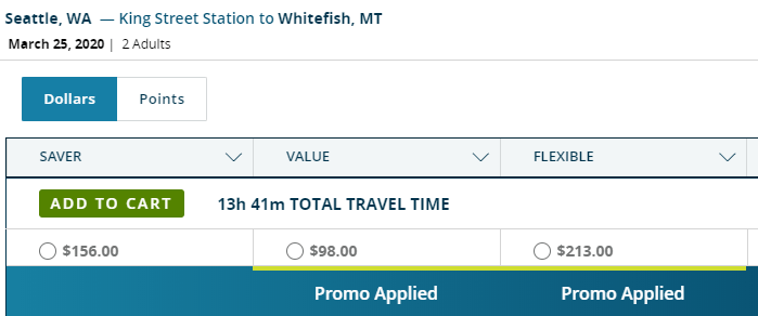Free Amtrak Tickets when you buy one