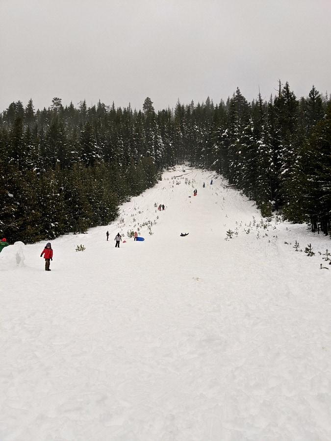 Mt Hood Sledding at Little John Sno Park