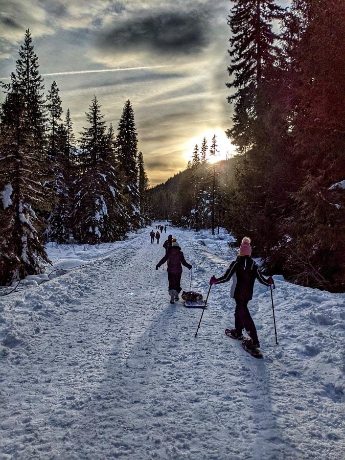 Mt Hood Snowshoeing at Trillium Lake