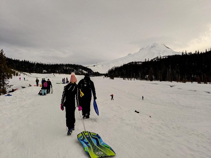Mt Hood Sledding at White River Sno Park