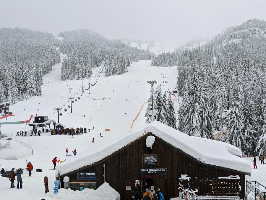 Skiing at Mt Hood Ski Bowl
