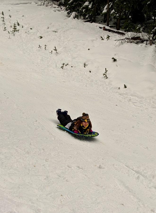 Sledding Fun at Mt Hood Oregon
