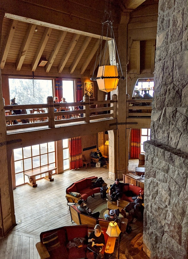 Timberline Lodge Two Story Lobby Dining Area