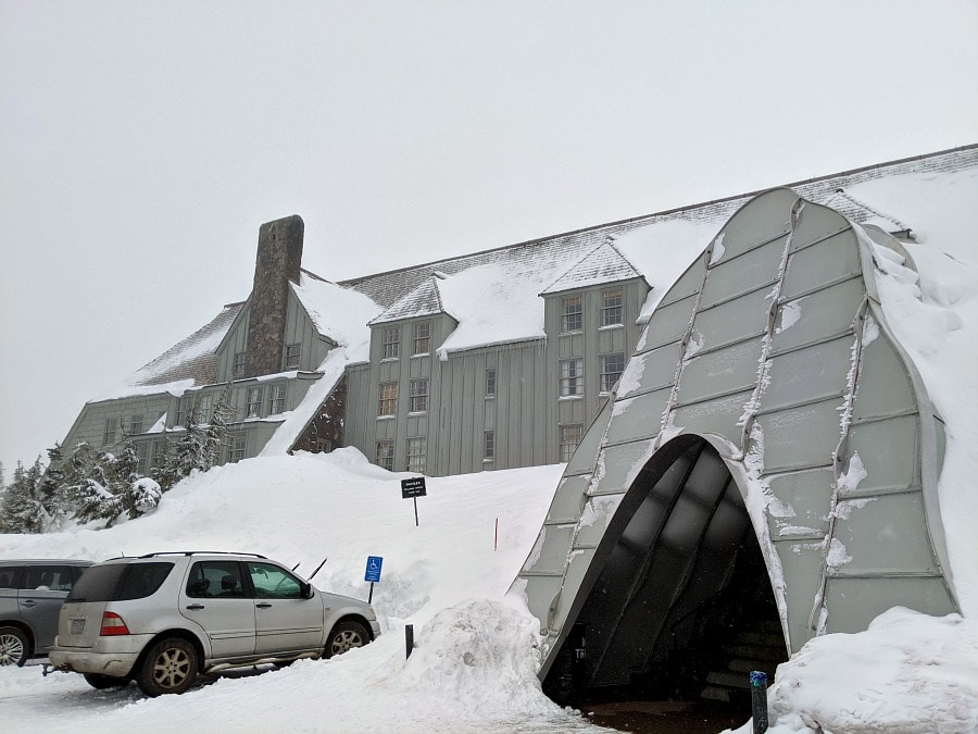 Timberline Lodge in the Winter