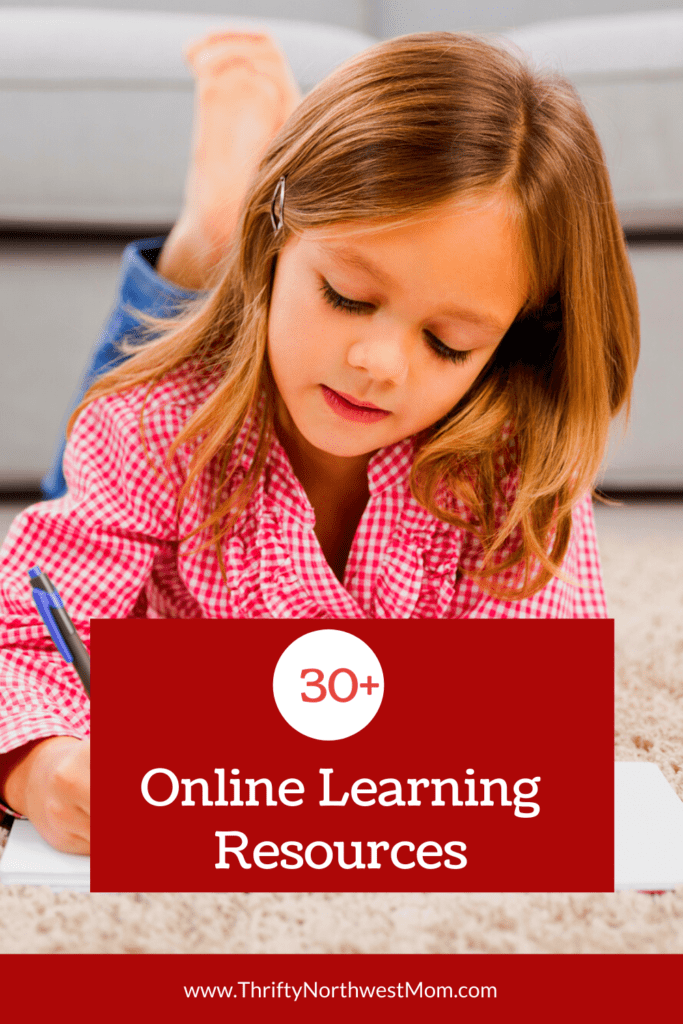 30+ Online Learning Resources to Use at Home!