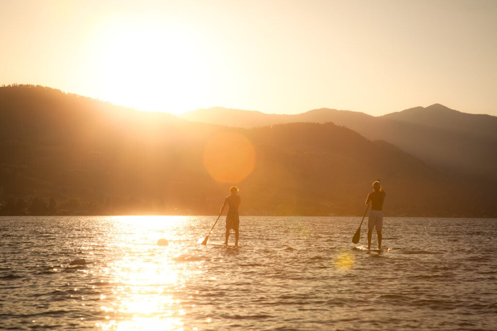 Stand Up Paddle Boarding at Lake Chelan