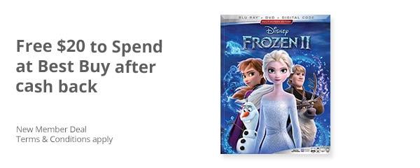 Free Frozen 2 DVD After Cash Back Offer at Best Buy – $20 Value!