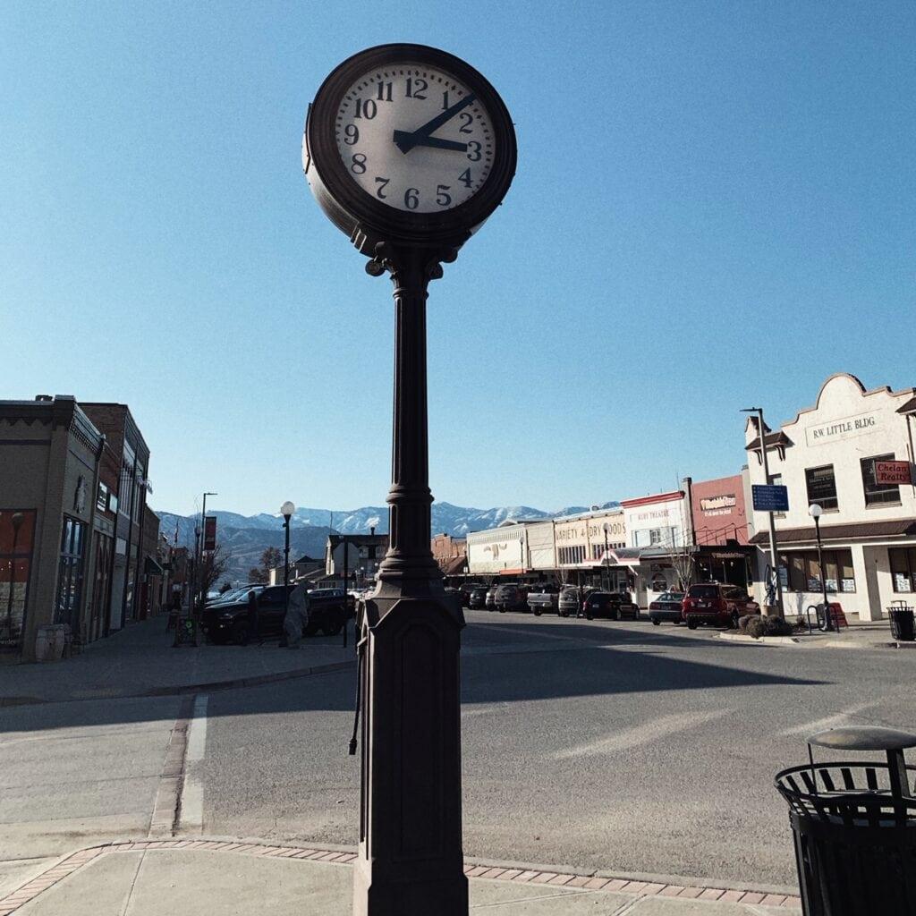 Chelan Clock & Downtown