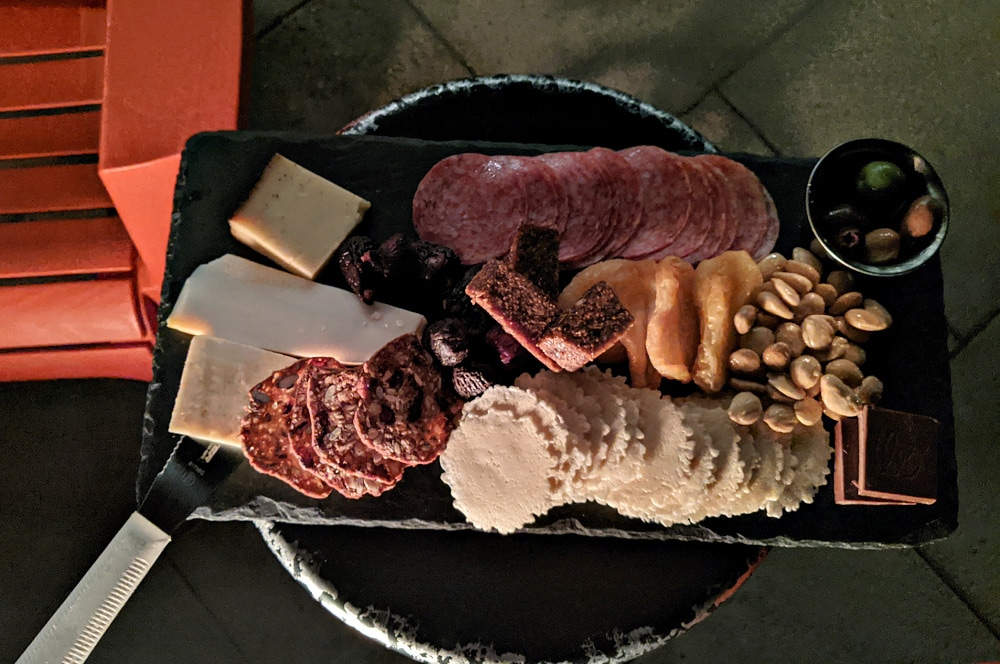 Meat & Cheese Platter at Wapato Point Cellars