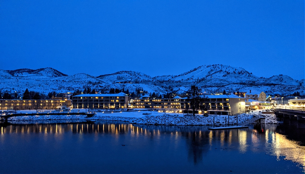 View of downtown Chelan from Grandview on the Lake
