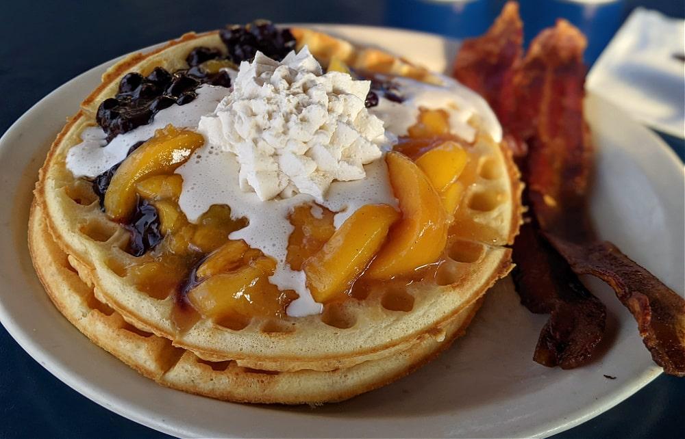 Waffles at Blueberry Hills Restaurant in Manson WA