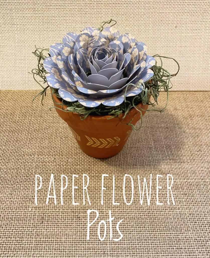 Mini Spring Flower Pots With Paper Flowers – Free Classes To Learn!