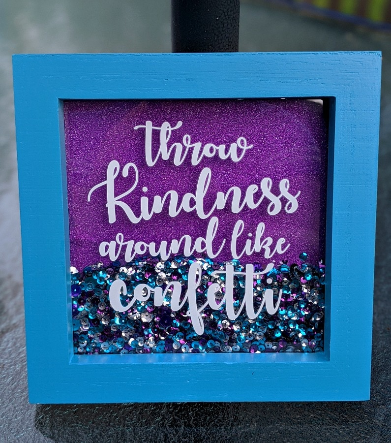 Kindness Confetti Shaker Frame from Annies Creative Kids