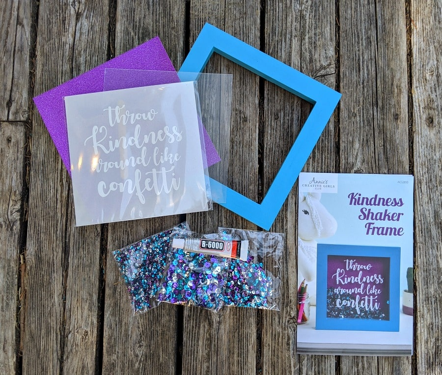 Kindness Shaker Frame Supplies