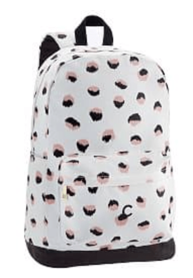 White Leopard Dot Backpack