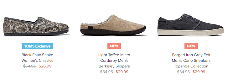 TOMS Shoes Sale - 30% OFF Sitewide +