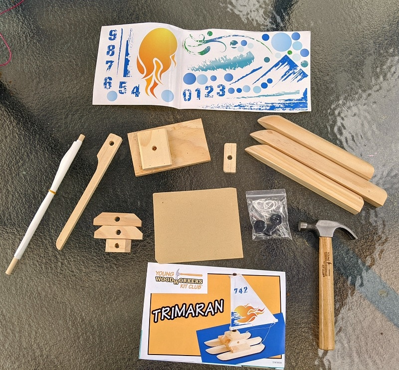 Young Woodworkers Club Sailboat Project Materials