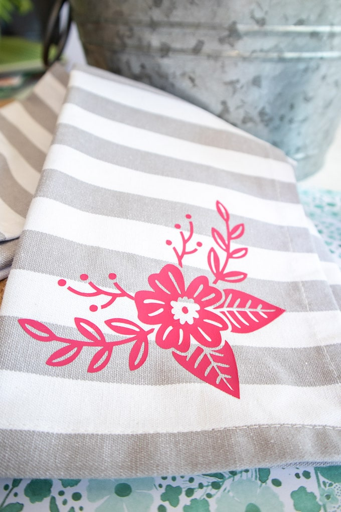 Cricut Joy Iron On Vinyl Tea Towel