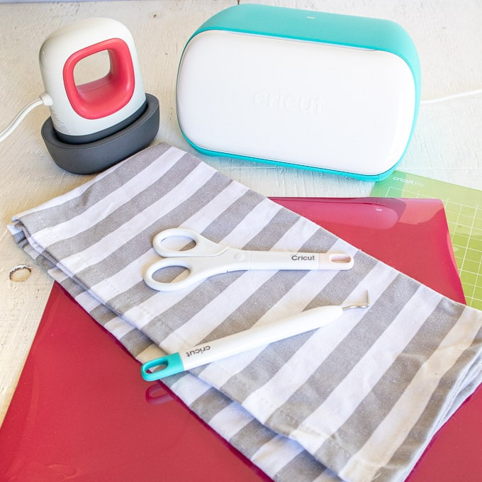 Cricut Joy Tea Towel Materials