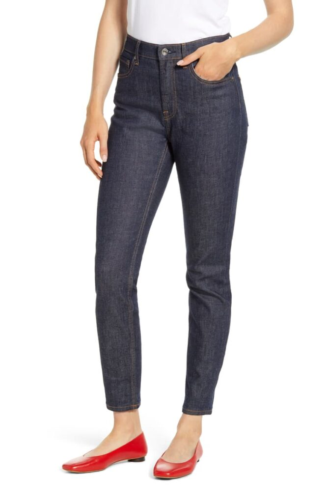 Everlane high rise skinny jeans