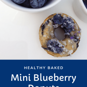 Mini Blueberry Donuts Baked not Fried