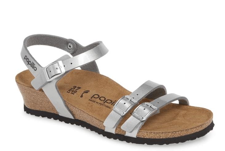 Birkenstock Lana Metallic Wedge Sandals