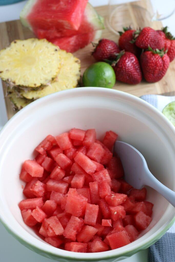Making Watermelon Sorbet