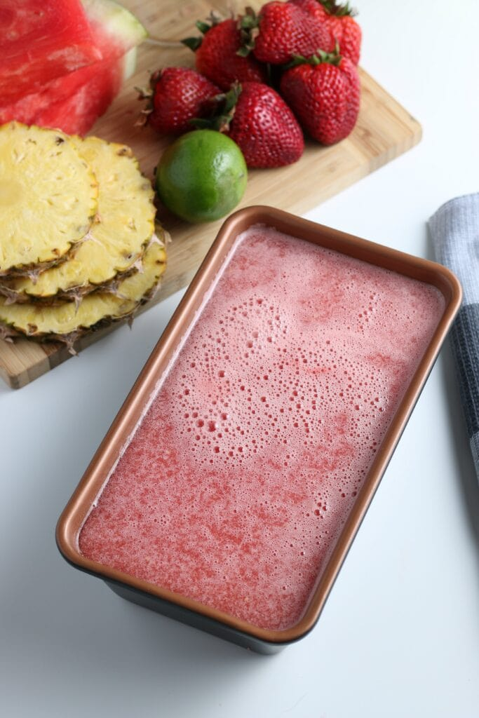 Watermelon Sorbet ready to freeze