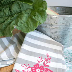 Tea Towels with the Cricut Joy