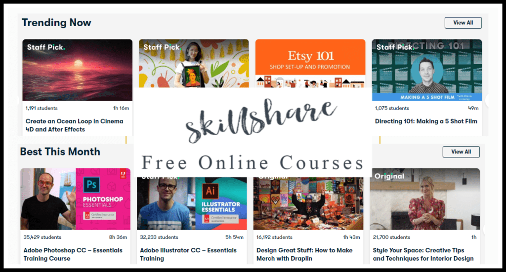 SkillShare Free Classes Online | Photography, Animation, Business & More!