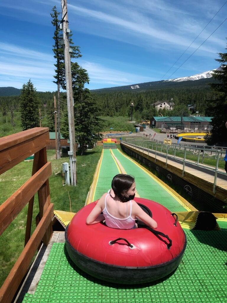 summer tubing on Mt Hood