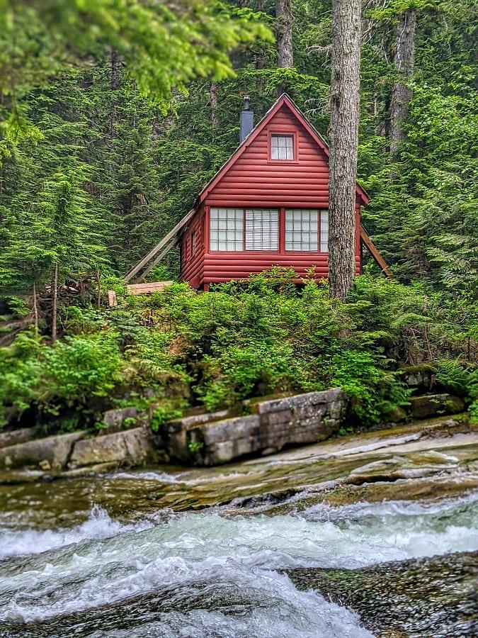 Cabin in the woods near Franklin Falls