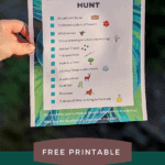 HIking Nature Scavenger Hunt for Kids