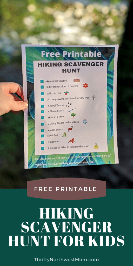 Hiking Nature Scavenger Hunt You Can Use With Kids Of All Ages!