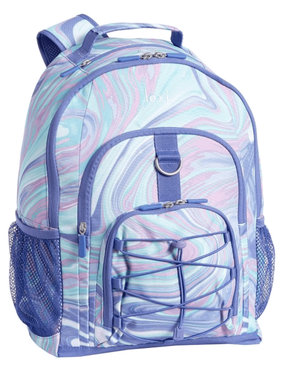 Pottery barn Pink Purple Marble Backpack