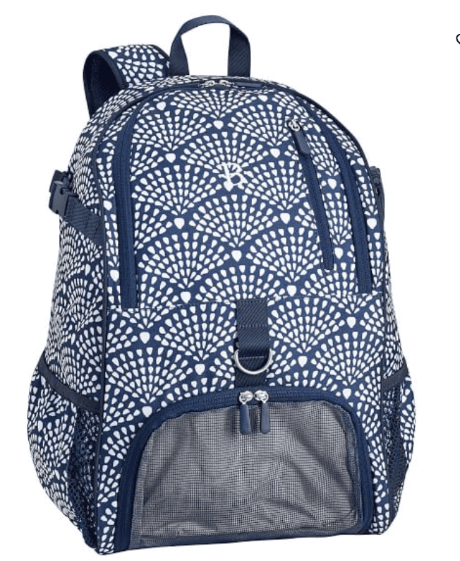 Pottery Barn Navy Arch backpack