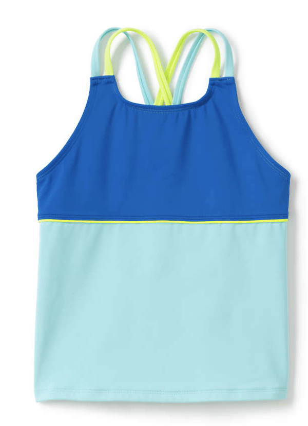 Colorblock tankini for girls from lands end