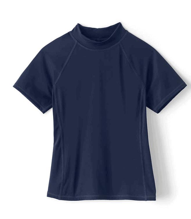 Girls Rashguard Shirt from Lands End