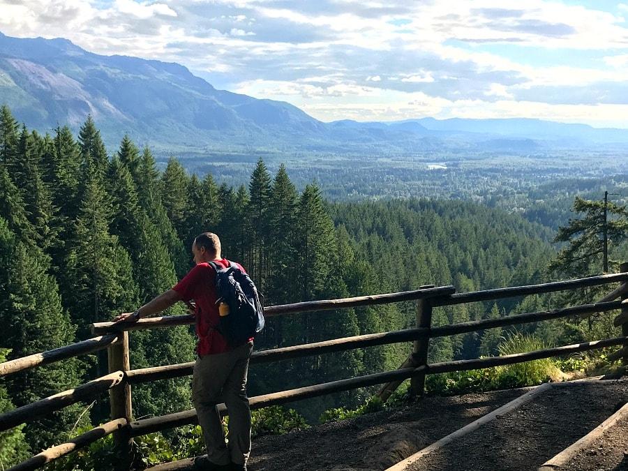 Viewpoint at Wallace Falls