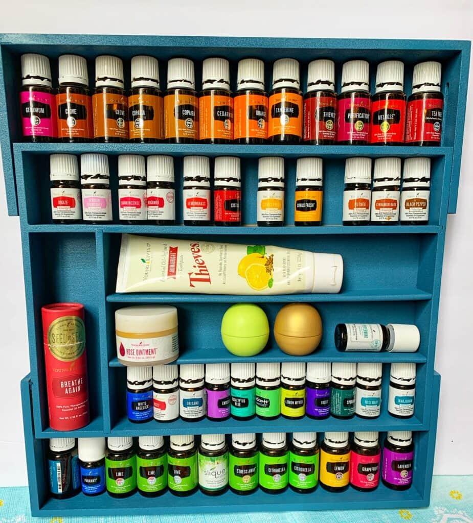Essential Oils Storage Box Made From Utensil Drawer Organizer
