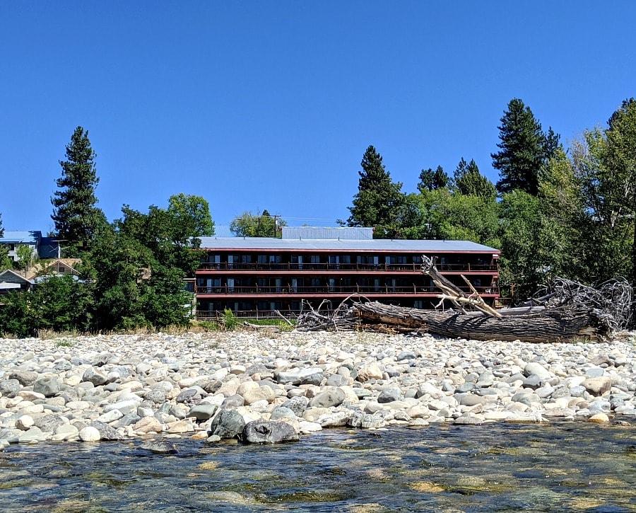 Hotel Rio Vista from the River