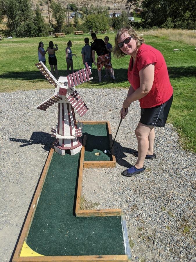 Mini Golf after River Floating