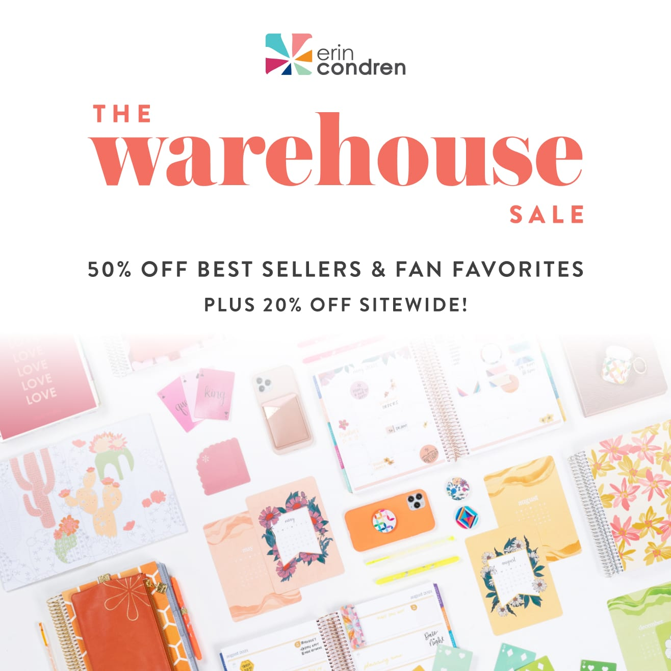 Erin Condren  Sale - Biannual warehouse sale