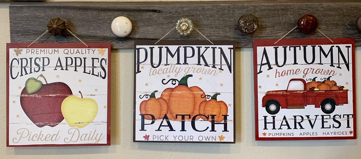 Custom Fall Signs From Dollar Tree Calendars - Thrifty NW Mom