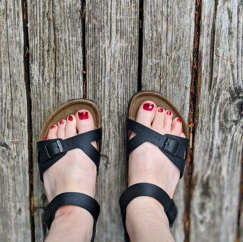 Birkenstock shoes at home
